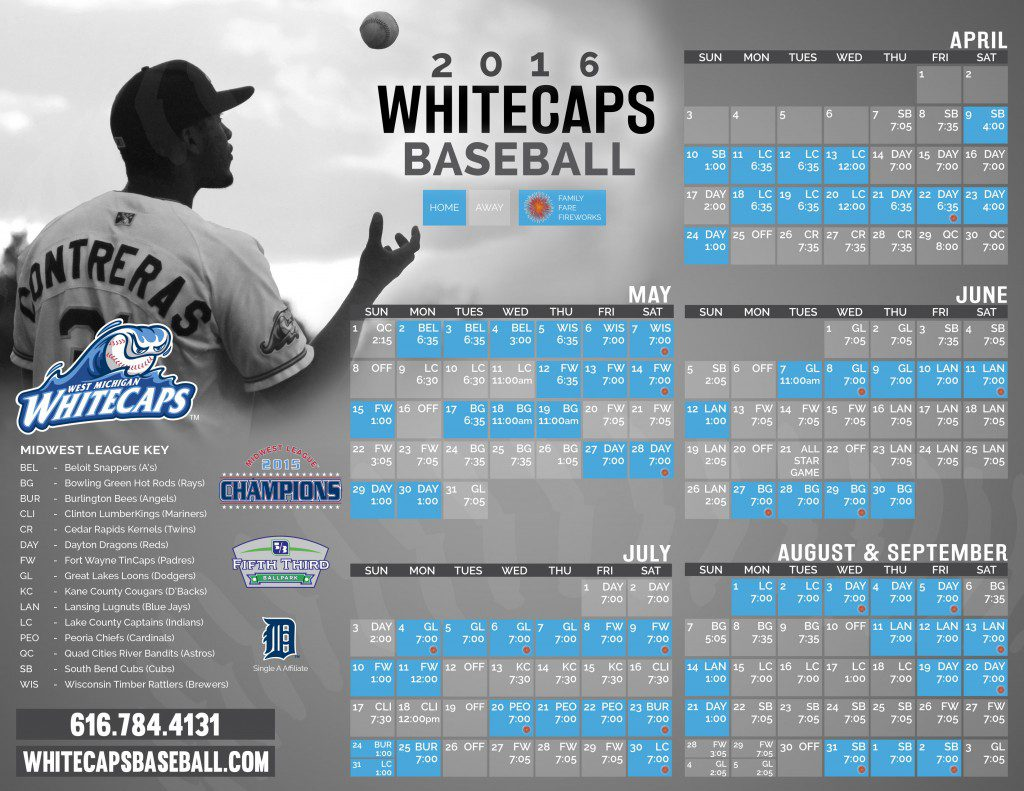 Whitecaps Schedule 2016