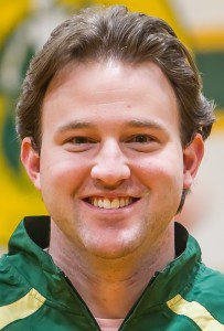 Muskegon Catholc girls bball coach Erich Adams