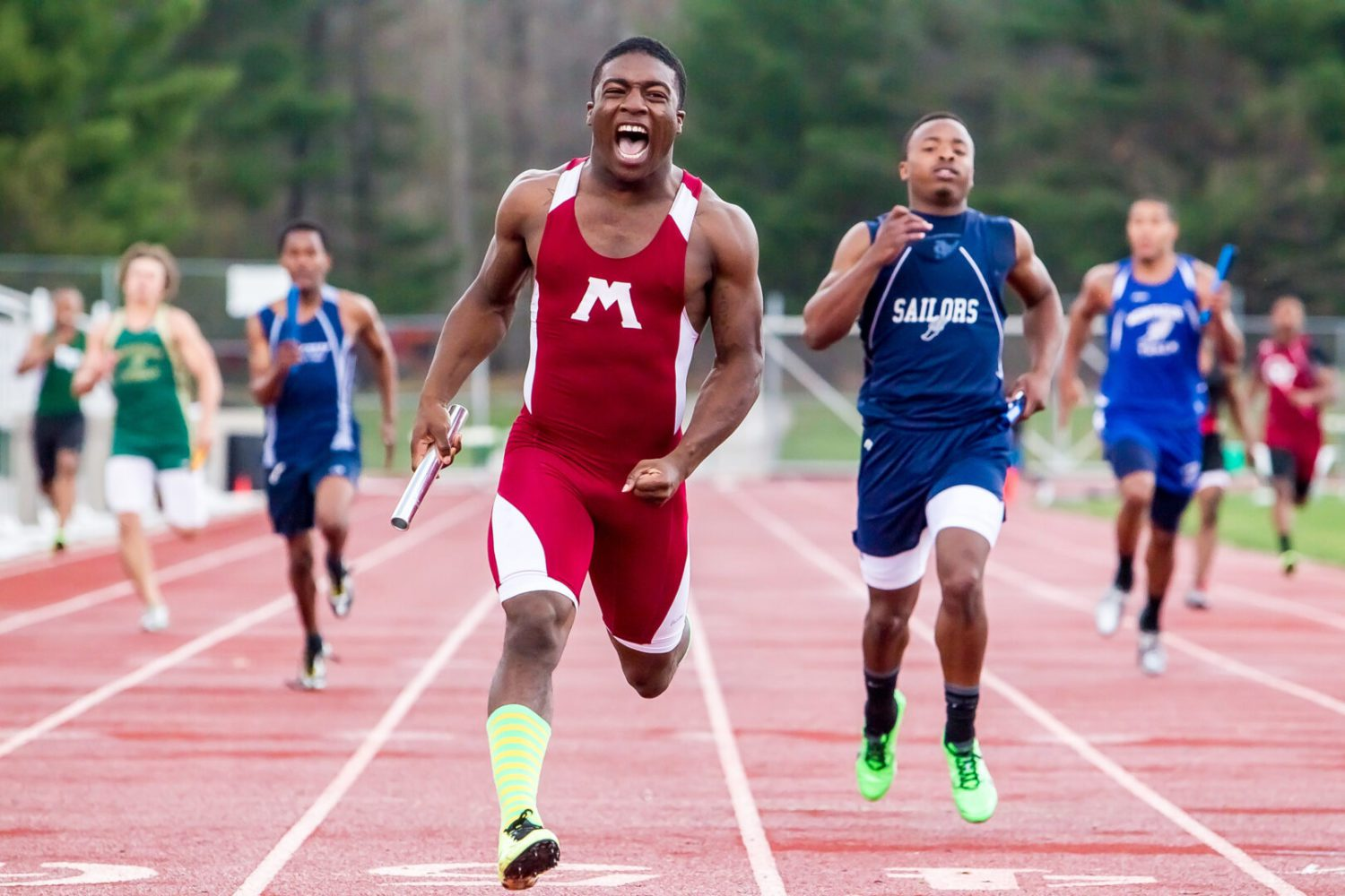 Greater Muskegon Athletic Association boys track meet results
