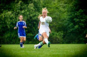 Katherine Salisz takes a shot for MCC. PHOTO/Tim Reilly