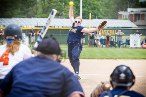 North Muskegon pitcher Katie Hendrickson brings in the heat against Gobles in the div 4 regional finals. PHOTO/Tim Rielly