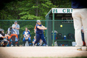 Maddison Nelson goes after a pitch in North Muskegon's regional final matchup against Gobles. PHOTO/Tim Reilly
