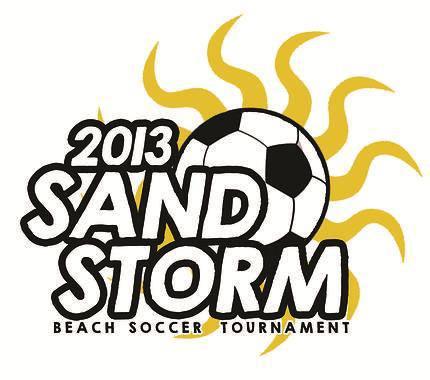 Sand Storm beach soccer tournament running on Pere Marquette beach