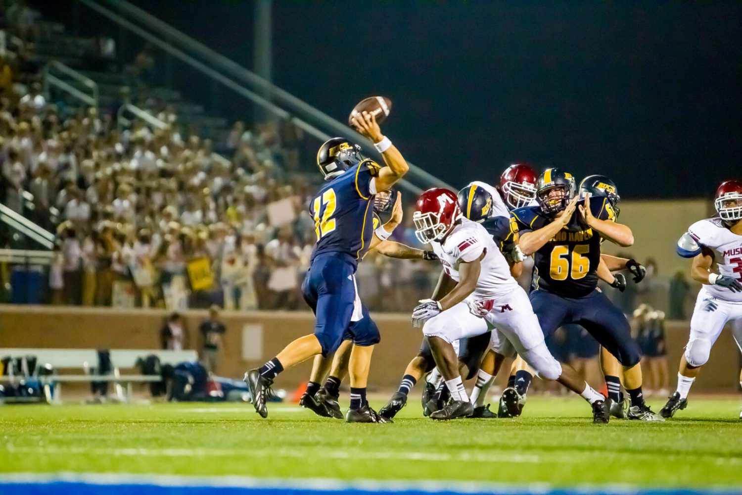 Lady luck shines brightly on Big Reds in 41-7 win over Grand Haven [VIDEO]