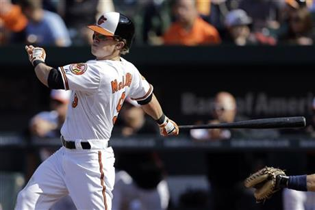 Nate McLouth hits first career grand slam in Baltimore's win over Seattle