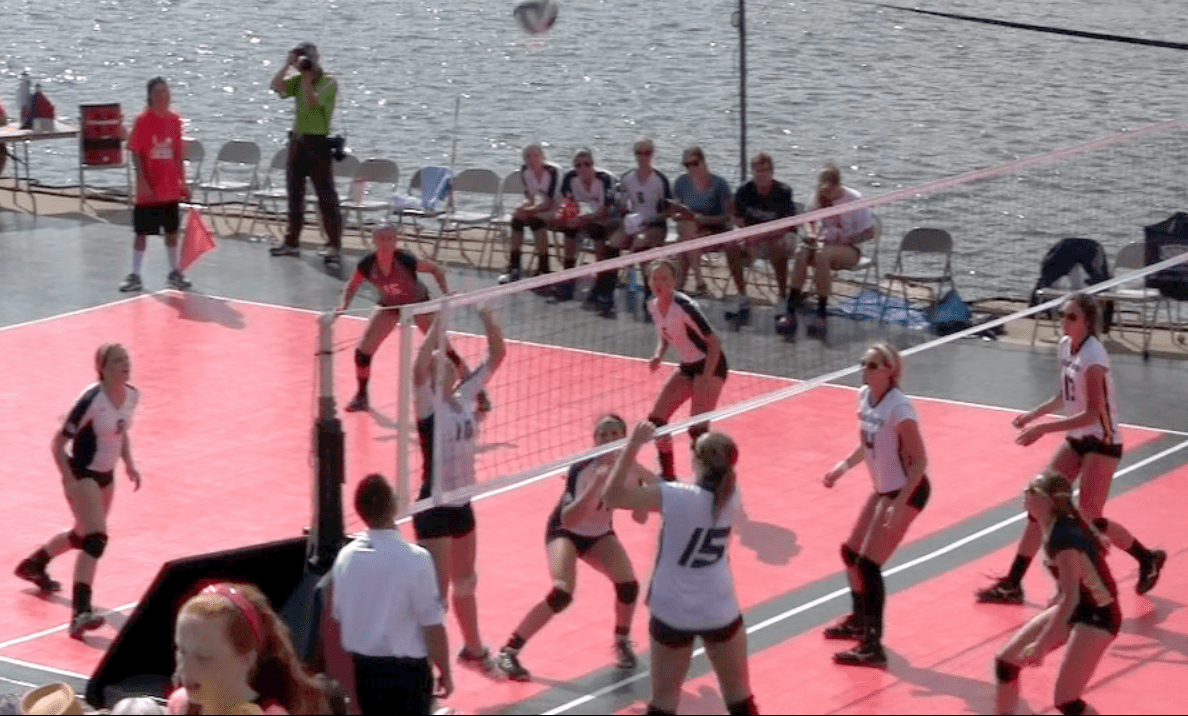 Grand Haven's Bucs, sunshine dominate second annual outdoor volleyball match