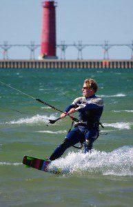 MacKite owner Steve Negen takes in some kitebaording action during last 2012 KOGL. Photo/Facebook.