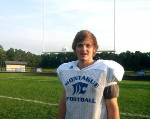 Montague's Chris Carroll says he would like to rush for over 1,000 yards this season. After three games, he has just over 300. (Photo by Mark Lewis)