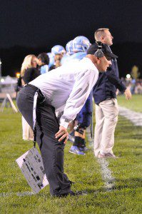 Mona Shores head coach Matt Koziak - leads MS to it's first ever playoff appearance. Photo/Eric Sturr