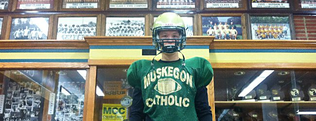 Muskegon Catholic's Ian Tyler is no fool, on or off the field [video]