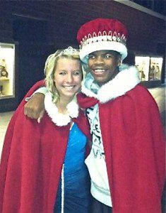 Running back Fred Waller and placekicker Kayla Merchant were crowned Homecoming king and queen.