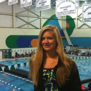 WMC swimmer Lauren Zeerip.
