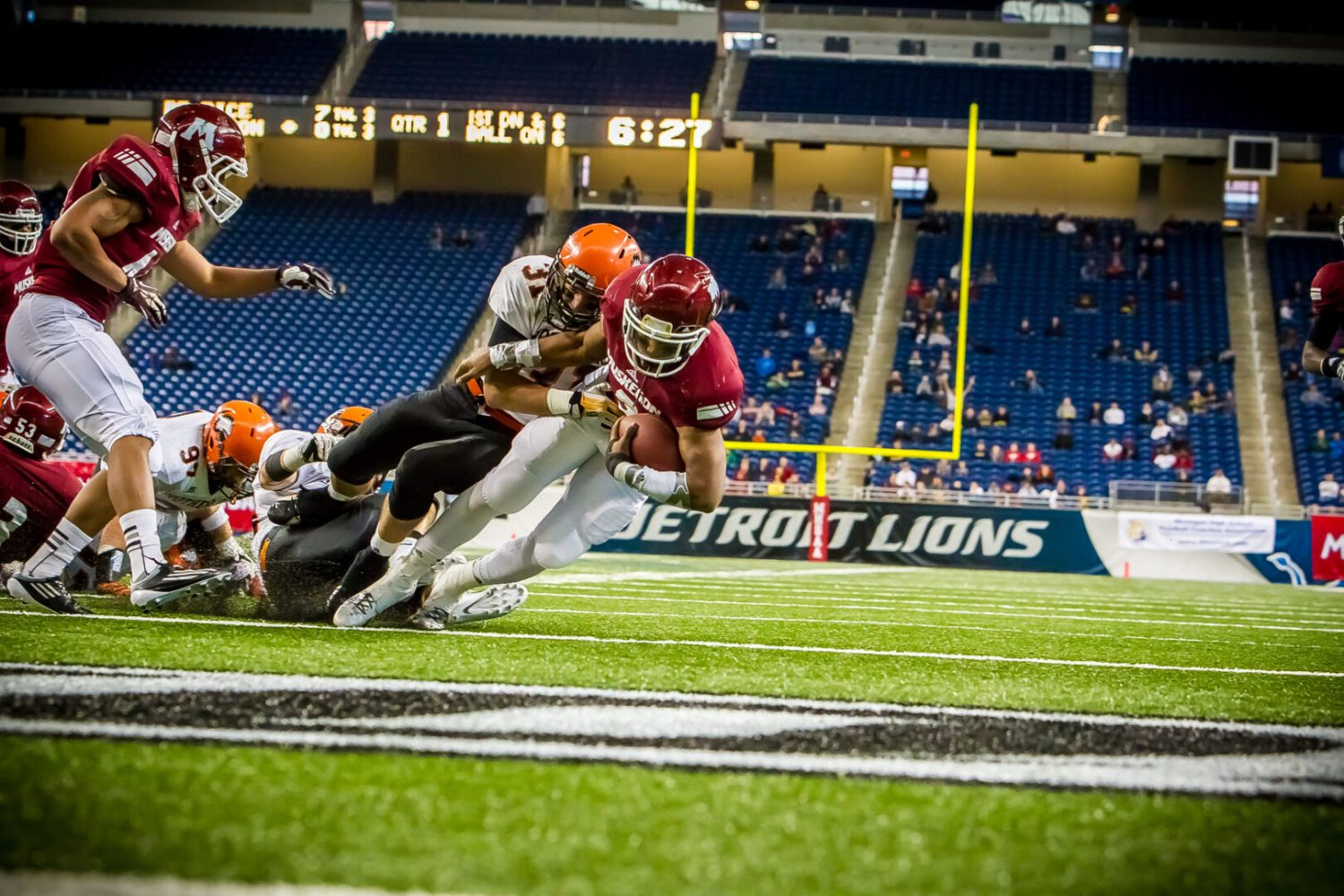 Muskegon Big Reds fall short against Birmingham Brother Rice in Division 2 state title game