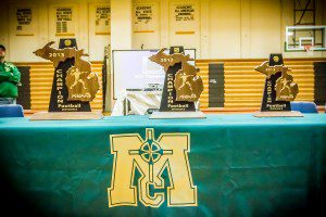 Championship trophies on display. Photo/Tim Reilly