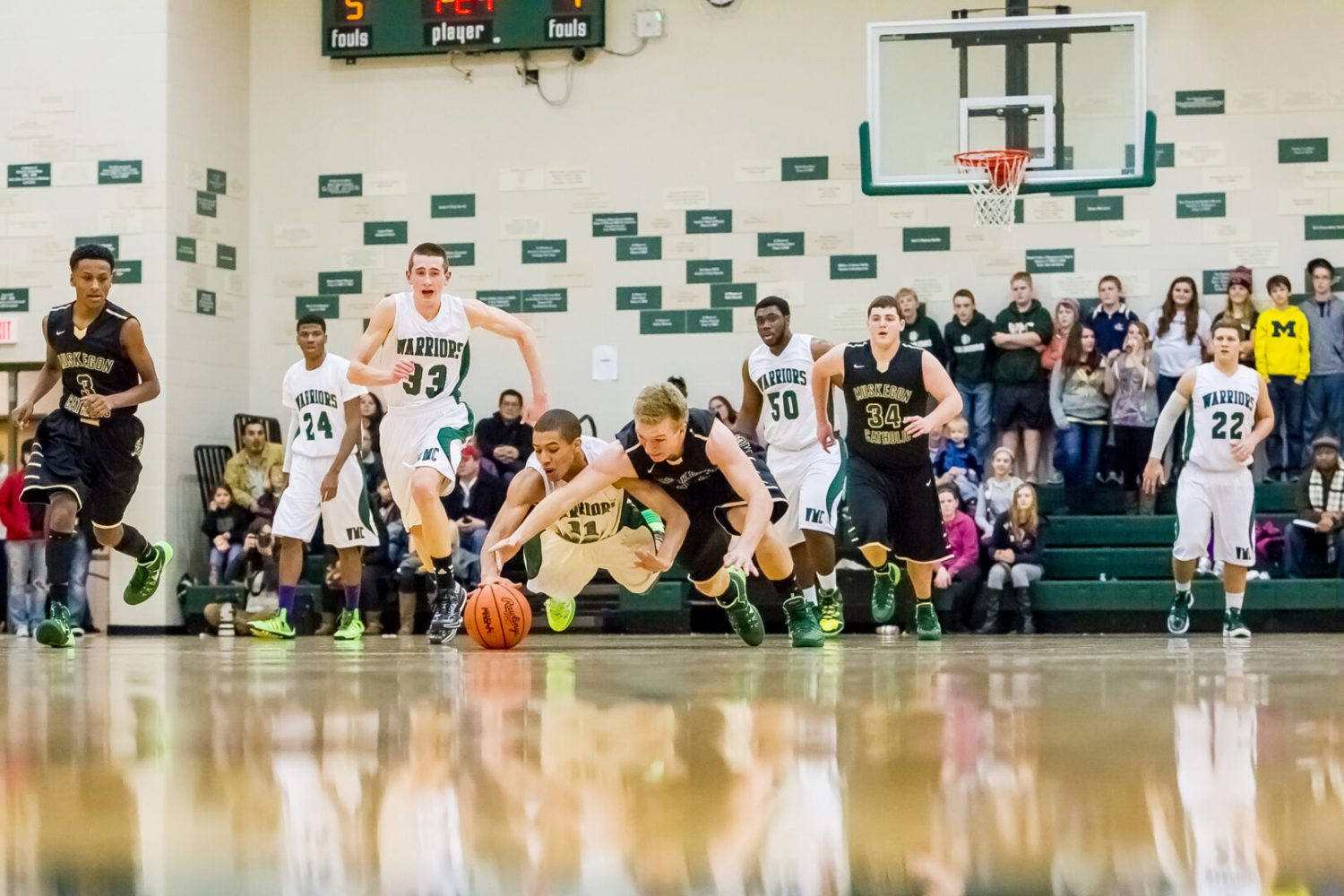 Yes, it was another nailbiter as Western Michigan Christian boys defeat Muskegon Catholic in key River Valley contest