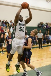 Bernard Smith goes up for two points. Photo/John Mulder