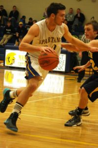 Kody Ambrose drives to the basket for MCC. Photo/Shelly Hart