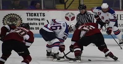 Matt Iacopelli breaks team single-season scoring record in the Lumberjacks' 5-2 win over Team USA