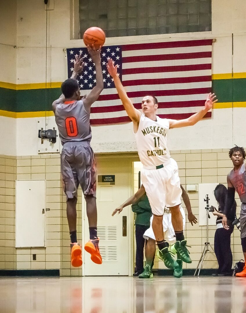 Eddie Tornes drops in 28 points to lead Muskegon Heights Academy over Muskegon Catholic Central, 71-58
