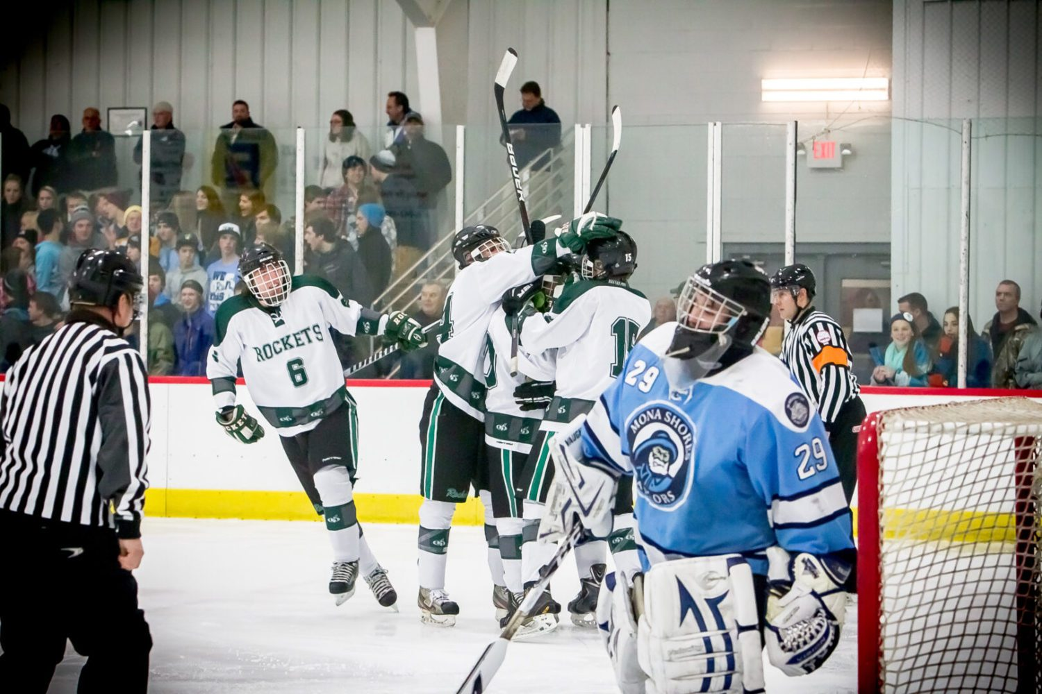 Reeths-Puffer hockey has all the answers in 5-0 victory over rival Mona Shores