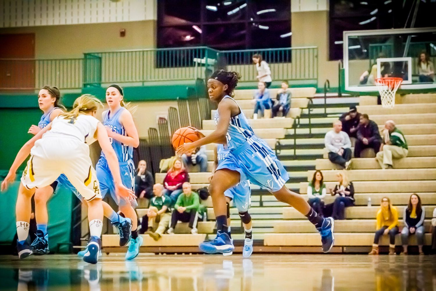 Mona Shores girls complete sweep of Grand Haven to end the Bucs' tournament run after two straight state titles