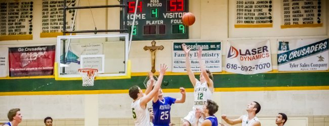 VanFossen's big second half leads Muskegon Catholic to a thrilling 55-53 win over Montague