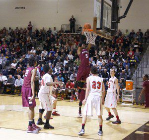 Joeviair Kennedy rises up for the Muskegon dunk.