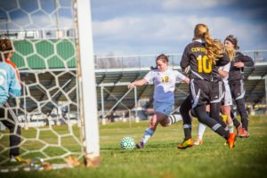 MCC's Jessica Ladd looks to take a shot on goal. Photo/Tim Reilly