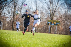 Natalie Bertolone blasts a shot for MCC. Photo/Tim Reilly