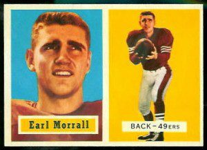 Earl Morrall 1957 rookie card.