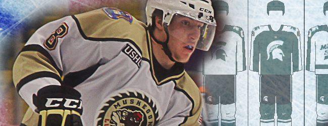 Muskegon Lumberjack Carson Gatt signs letter of intent to play hockey at Michigan State University