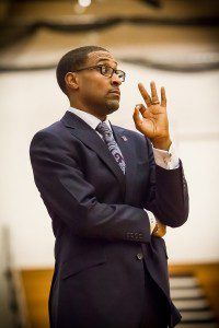 Muskegon coach Keith Guy will coach at the Jord Brand Classic which will be hosted on ESPN2 tonight. Photo/Tim Reilly