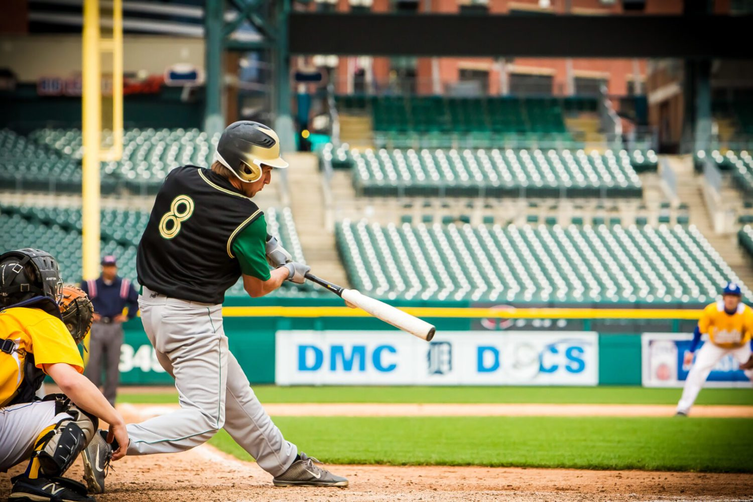 Photos from Muskegon Catholic's baseball game at Comerica Park against Grand Rapids Catholic on Thursday