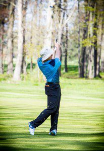 Mona Shores golfer Mitchell White finished second at Thursday's District 1-1 tournament, penciling in a round of 74. Photo/Tim Reilly