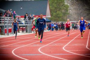 Mona Shores sprinter Marquon Sargent took the 100 and 200 meter titles Friday at the annual GMAA city track meet.