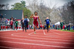 Muskegon's girls team dominated the sprints at Friday's GMAA city track meet.