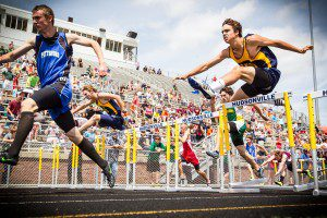 North Muskegon's Jake Walton is one of the area's top hurdlers and pole-vaulters in the area.