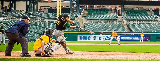 A big league performance: Crusaders show off their skills with a 12-3 win over GR Catholic at Detroit's Comerica Park