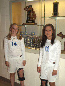 Oakridge's Aliza Olson and Beka Shepherd.