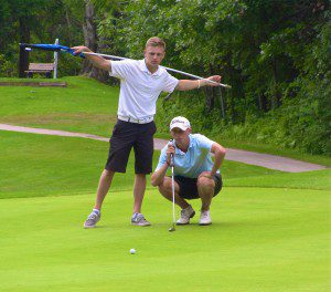Collin Breit stares down a put during action on Sunday. Photo/Jason Goorman