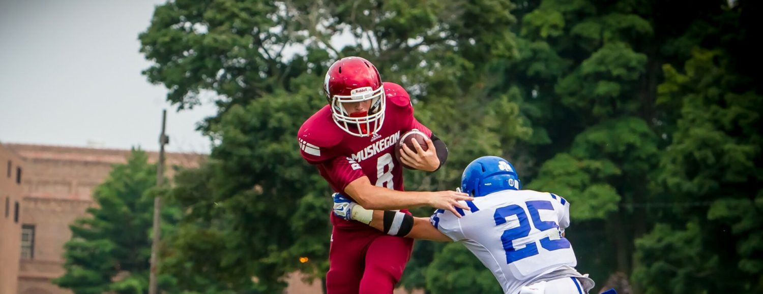 Muskegon quarterback Shaun Pfenning doing fine filling the big shoes of All-Stater DeShaun Thrower