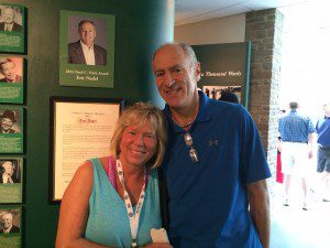 Nadel stands with wife Jennine at the Hall of Fame.
