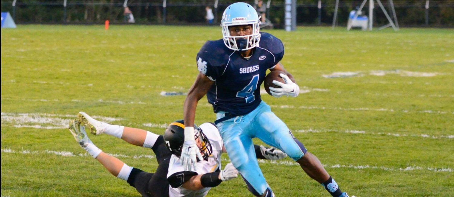 Mona Shores grabs big halftime lead, then holds on for a 30-13 O-K Black victory over Kenowa Hills