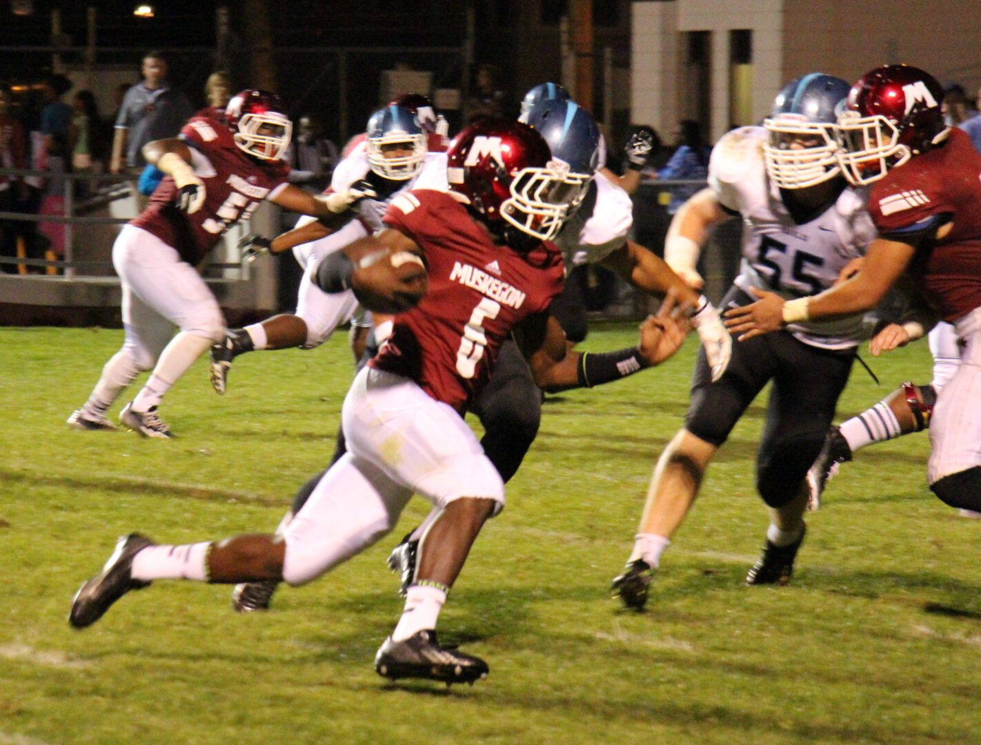 Muskegon overcomes turnovers, rallies in second half to beat Grand Rapids Christian