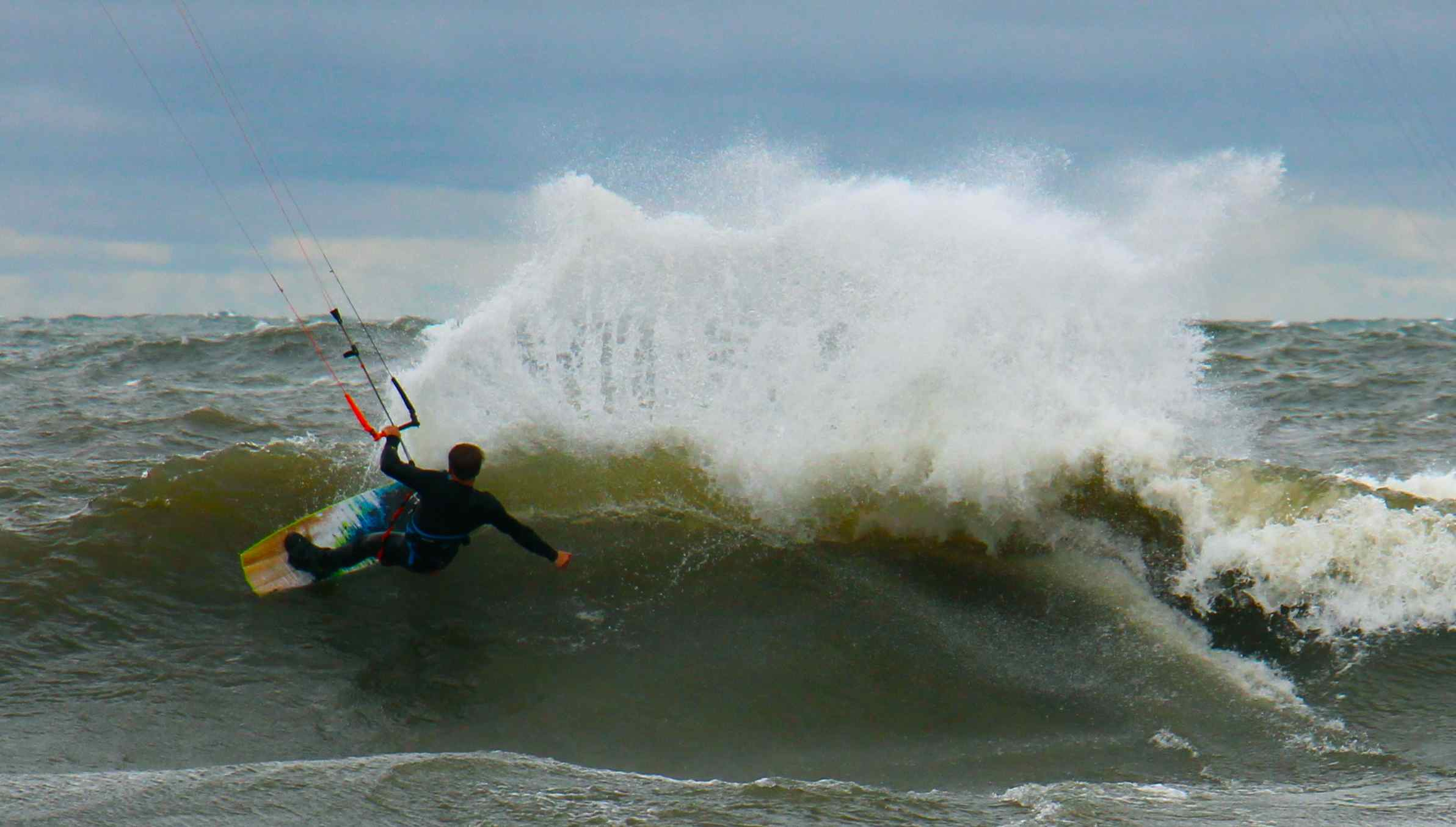 Wind and waves were pumping during last weekend's King Of The Great Lakes Kiteboarding Festival