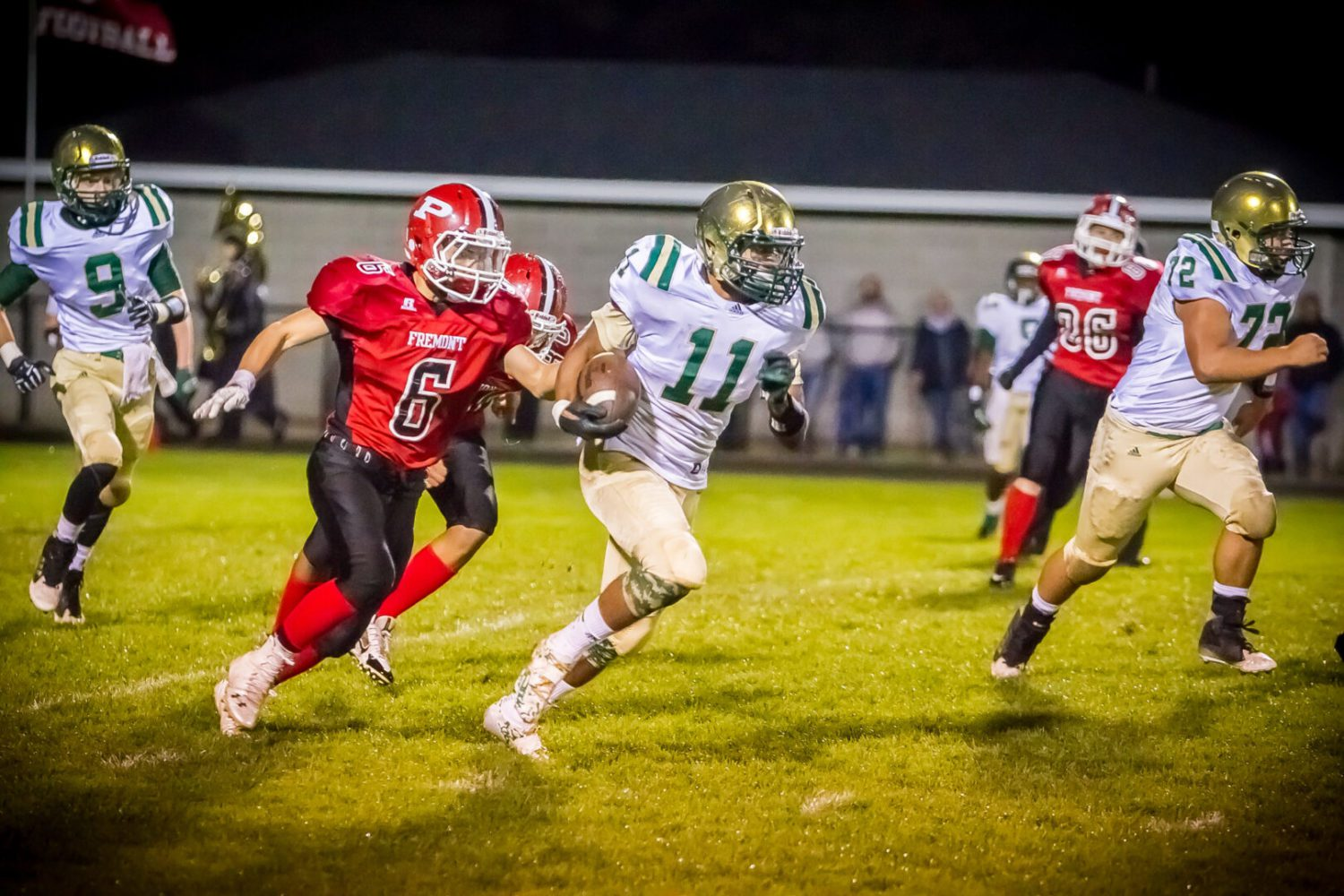 Muskegon Catholic continues romp through Lakes 8 by downing Fremont 55-7