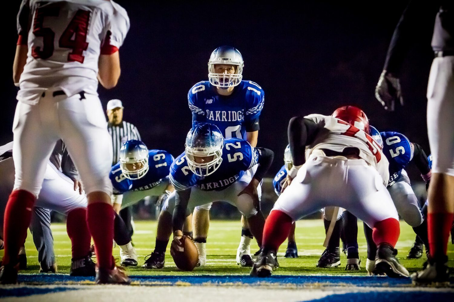 Oakridge takes command of conference football race with a 50-22 pounding of previously unbeated Whitehall