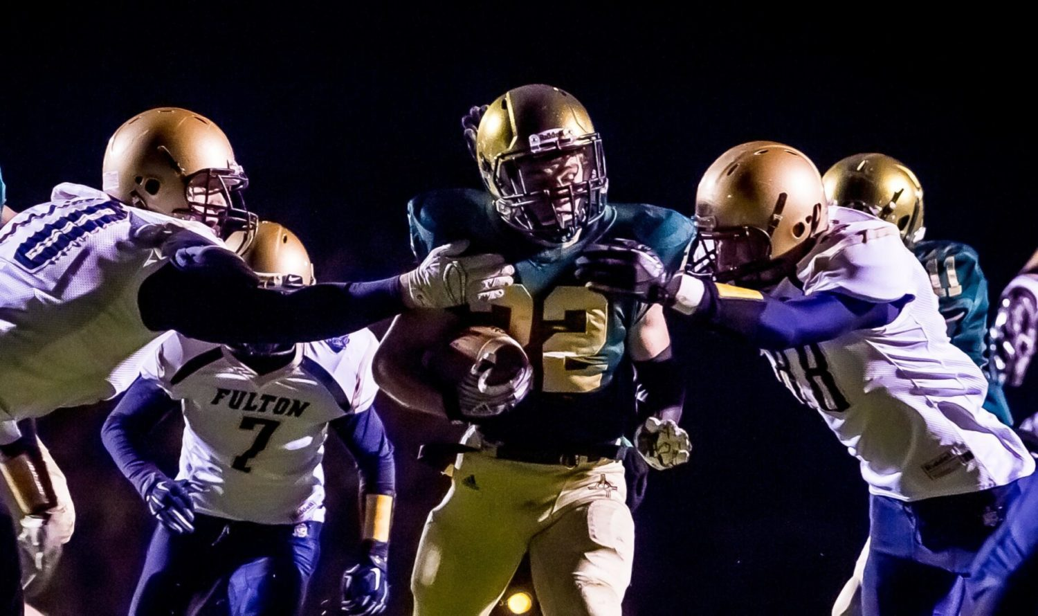 Muskegon Catholic takes its first step toward another Division 8 crown with a 56-8 pasting of Fulton