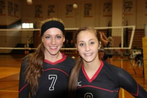 Rachel Brown, left, and Alyssa Myers