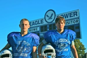 Brady Luttrull and running back Kolin Chahorski